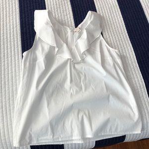 Jcrew sleeveless white blouse
